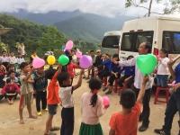 """Chương trình tình nguyện mùa đông """" Đông ấm cho em """" tại Trường Tiểu Học bán trú xã Trà Vân, huyện Nam Trà My, tỉnh Quảng Nam"""