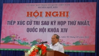 Đoàn Đại biểu Quốc hội tỉnh Quảng Nam tiếp xúc cử tri Quế Sơn