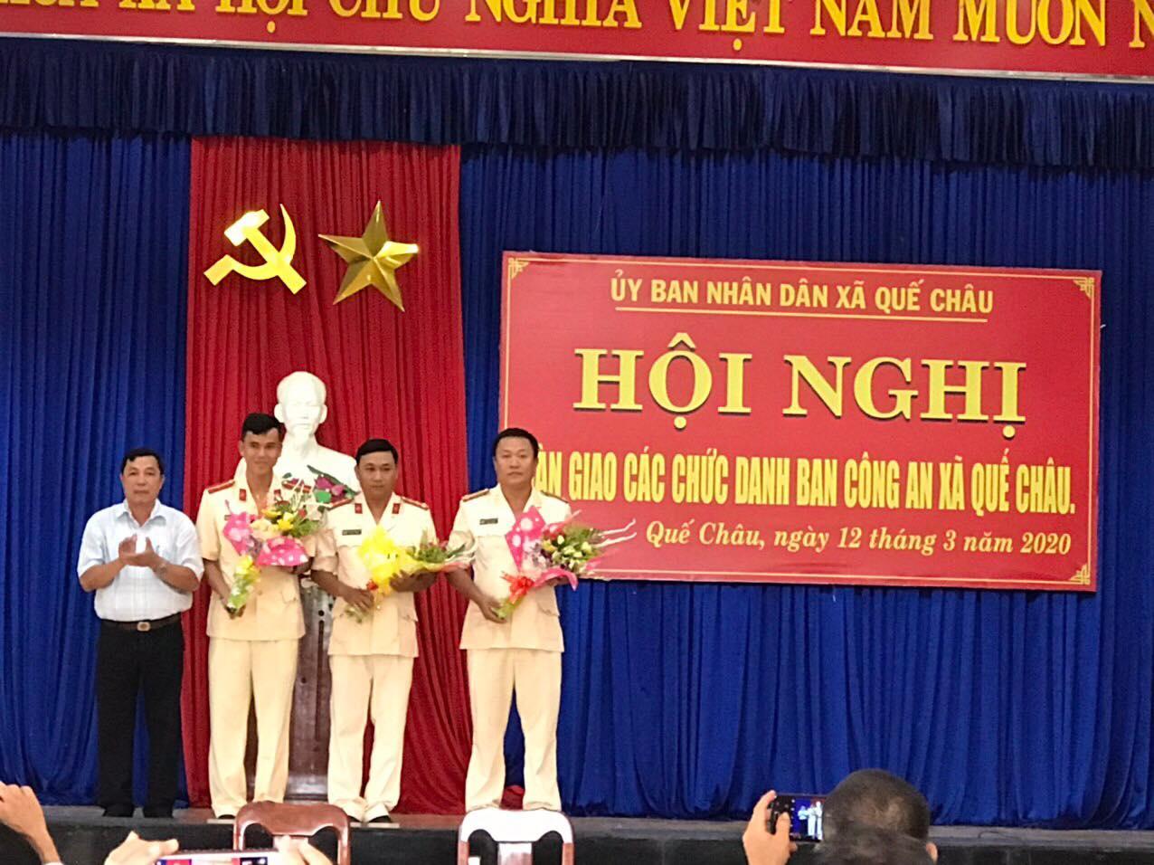 Lễ ra mắt Công an chính quy đảm nhiệm các chức danh công an xã Quế Châu